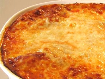 Baked anything topped with cheese