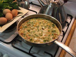 Potato frittata - omelette with potato in it!