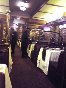Dining in a Pullman carriage