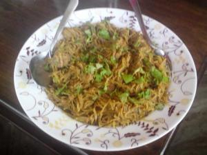 Gawa Shaiyyo: Wheat vermicelli with mutton