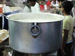 Badam Harira, steaming hot