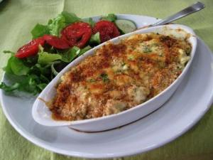 Baked crab meat - and they mean it.