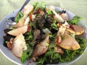 Secret Garden Pear parmesan Salad