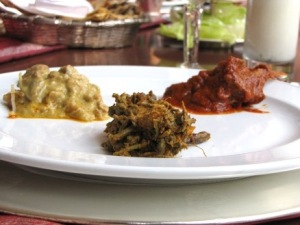 Foreground: Ker Sangri; top left: Murgh ka Mokul; top right: Laal Maas