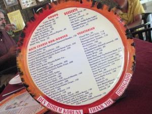 Fernando's Nostalgia menu